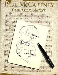 Paul McCartney Autographed Composer/Artist Book w Hand