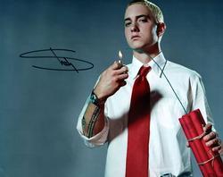 Eminem Marshal Mathers Signed 8x10 Slim Shady Photo RAC