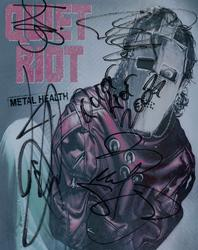 Quiet Riot Autographed Signed 8x10 Metal Health Photo R