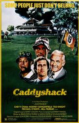 Bill Murray Autographed 12x18 Caddyshack Poster Photo R