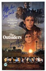 Ralph Macchio C. Thomas Howell Pony Boy Signed The Outs