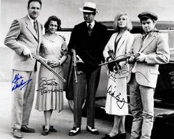 Bonnie And Clyde Autographed Signed 16x20 BnW Photo RAC