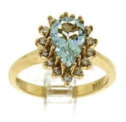 Yellow Gold Gemstone and Diamond Ring