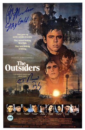 Ralph Macchio Plus Autographed 11x17 Outsiders Poster P