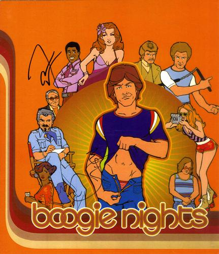 Boogie Nights Wahlberg Cheadle Autographed 11x12 Photo