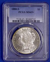 1880 S PCGS MS 65 + Morgan Dollar