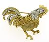 18kt Ruby & Diamond Rooster Pin