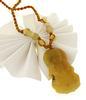 Yellow Jade Buddha Pendant