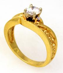 Gorgeous Diamond Engagement Ring in Gold, Size 4.75