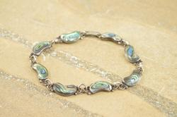 Abalone Inlay Antique Style Bracelet Silver