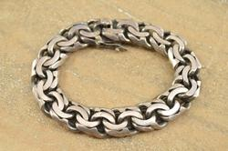 Pressed Doubled Cable Bracelet Silver
