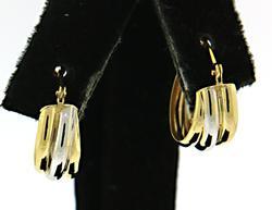 Dainty 18kt Hoop Earrings