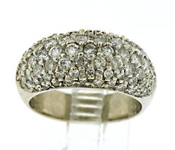 14kt Pave Diamond Dome Ring