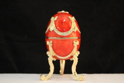 Enamel Ruby Musical Egg