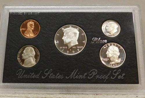 1997 Silver PROOF Set, Government Packaging