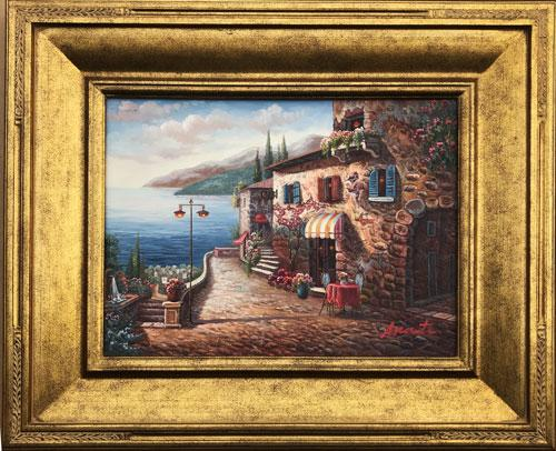 Beautiful Hand Painted Oil Painting On Board