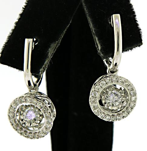 Radiant 14kt Diamond in Motion Earrings