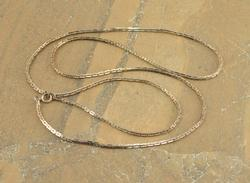 Fancy Geometric Anchor Link Necklace Silver