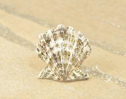 Highly Textured 3D Sea Creature Pin / Brooch Silver