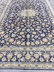 Simply Majestic Rare 1960s Authentic Vintage Royal Persian Darbari Rug