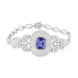 Stunning Tanzanite and Diamond Bracelet in 18kt Gold