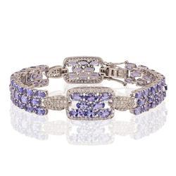 Fascinating 16.56ctw. Tanzanite and Diamond Bracelt