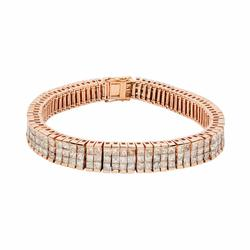 Unique 17.46 ctw. Tennis Bracelet in Rose Gold