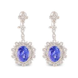Fascinating 11.20ctw. Tanzanite and Diamond Earrings