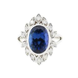 Antique Style 4.50ctw. Tanzanite Ring