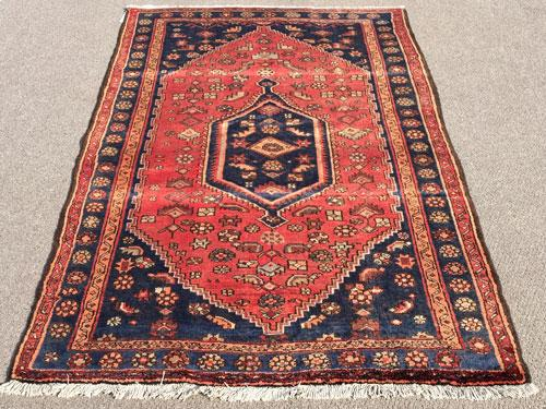 Charming Mid-20th C. Authentic Handmade Vintage Persian Asad-Abad