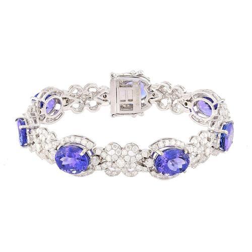 Lovely 20+ctw Tanzanite Bracelet