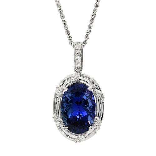 An exceptional platinum Tanzanite necklace