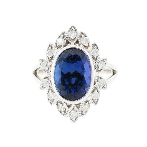 Antique Style 4.50ctw. Tanzanite Ring
