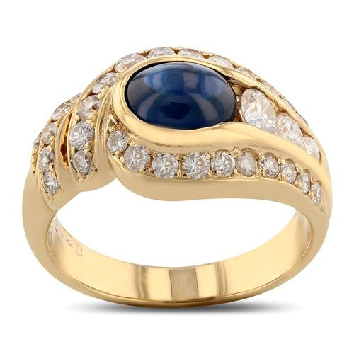 Uniquely styled Sapphire Ring