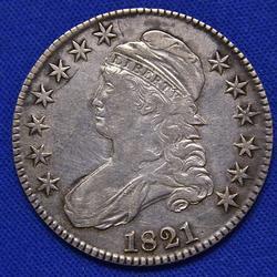 1821 Bust Half Overton 106