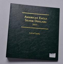 American Eagle Silver Dollars 2015- Archival Album