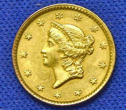 1853 Type 1 US $1 Gold Piece