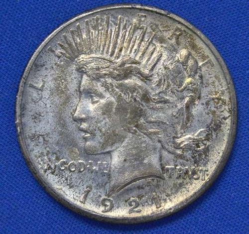 Choice BU TONED 1921 Peace Dollar
