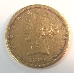 1894-O US Gold $10 Liberty Circulated