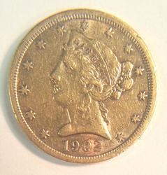 1902-S US Gold $5 Liberty Circulated