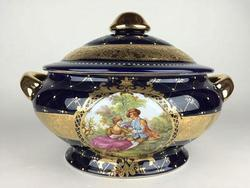 Large Hand Painted Highly Decorative Centerpiece, Porcelain