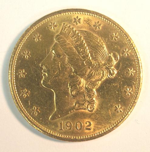 1902-S US Gold $20 Liberty Circulated