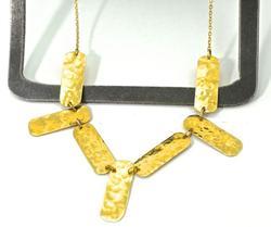 Artistic 14K Hammered Gold Necklace