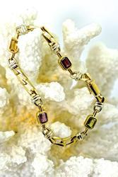 Colorful 18K Multi- Stone Bracelet