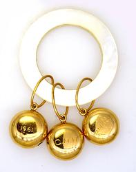 14K Cartier Rattle and Teething Ring