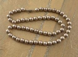 beaded Necklace Silver