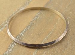 plain bangle Bracelet Silver