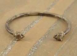cat bangle Bracelet Silver