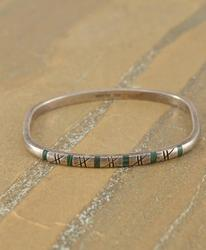 square bangle Bracelet Silver