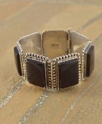 large black squares Bracelet Silver